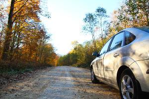 Гравийная дорога к базе отдыха «Цица» ©Фото Заиры Гамидовой, Юга.ру