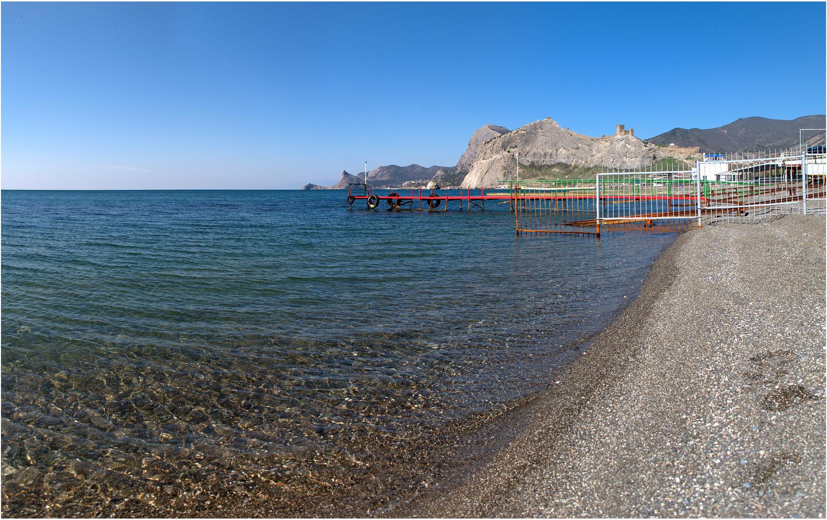 Пляжи в Судаке и окрестностях